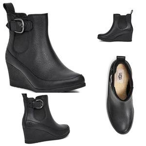 NEW Arletta Ugg Wedge Waterproof Booties - 9